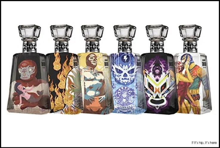 Artist designed bottles for 1800 Tequila