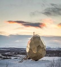 Bigert & Bergstr Egg-shaped Solar Sauna ' Hip