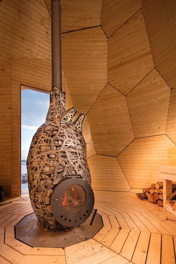 Bigert & Bergstr Egg-shaped Solar Sauna In Kirun Sweden