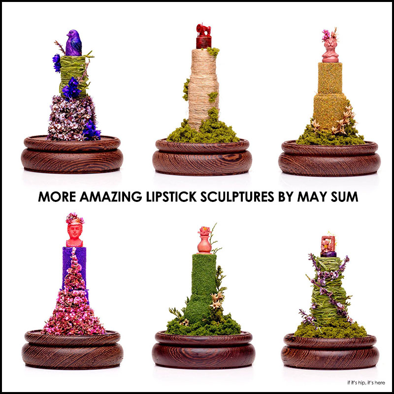 Lipstick and Concealer sculptures by May Sum