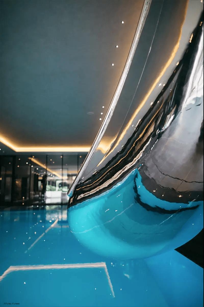 Splinterworks Custom Luxury Pool Slides In Stainless Steel