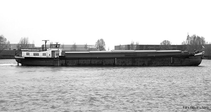Old Cargo Ship Becomes Houseboat