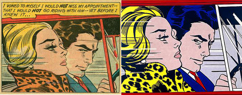 art appropriation david barsalou 39 s deconstructing roy lichtenstein. Black Bedroom Furniture Sets. Home Design Ideas