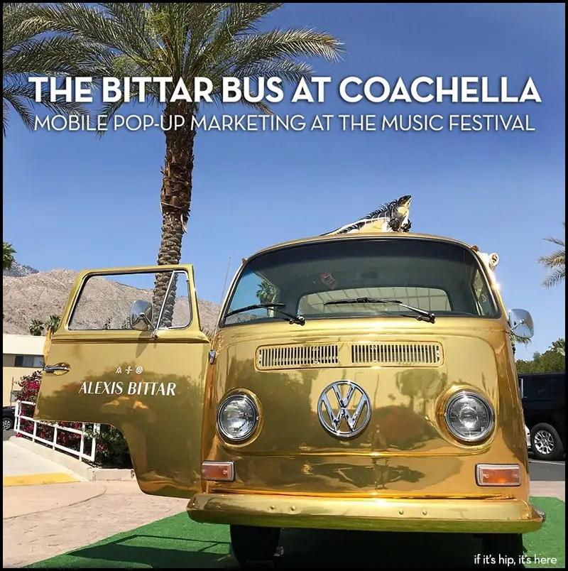 Alex Bittar Bus at Coachella