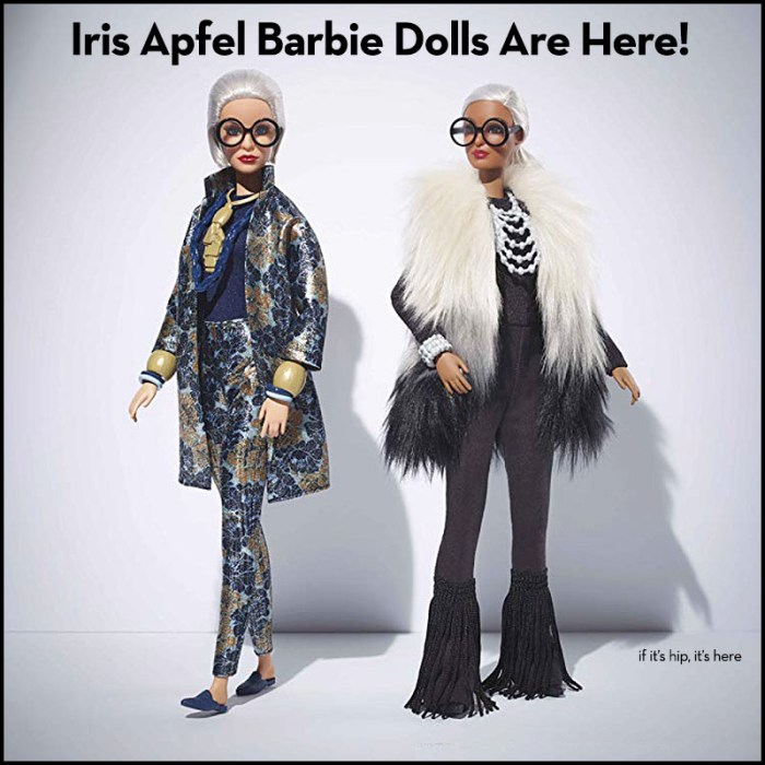 Iris Apfel Styled Barbie Dolls