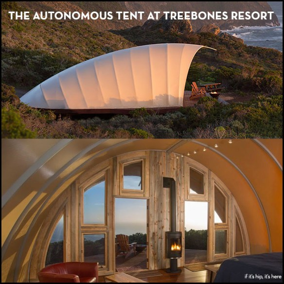 This Autonomous Tent in Big Sur Provides Glamping With A