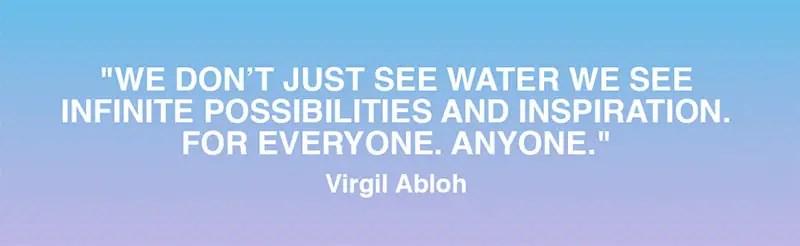 Virgil Abloh for Evian