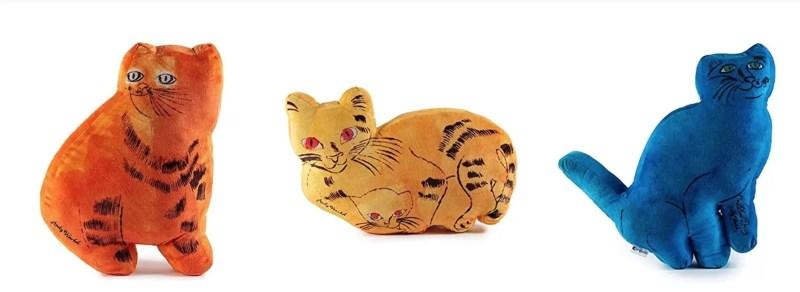 warhol plush cats