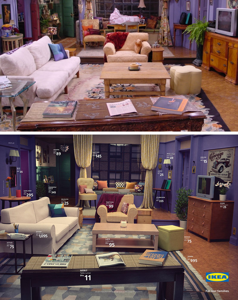 Ikea Real Life Series Living Rooms Friends The Simpsons Stranger