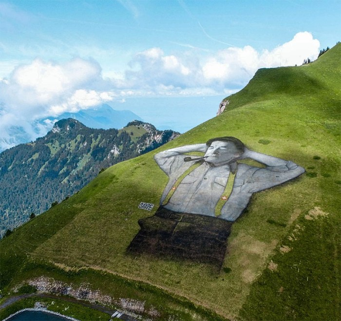 Land Art by Artist Saype