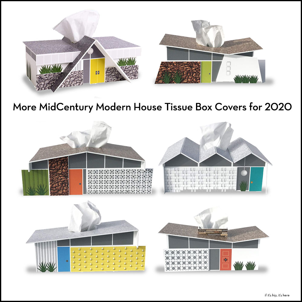 MidCentury Modern House Tissue Box Covers