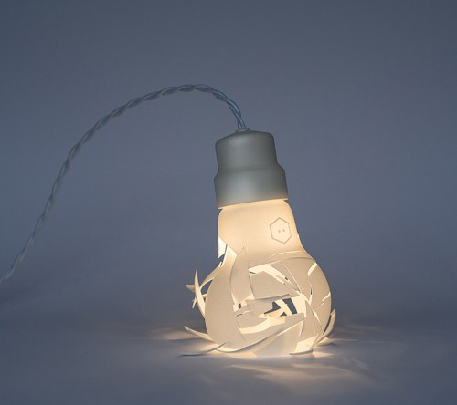 Read more about the article Breaking Bulbs Are 3D Printed Lamps That Appear Smashed.