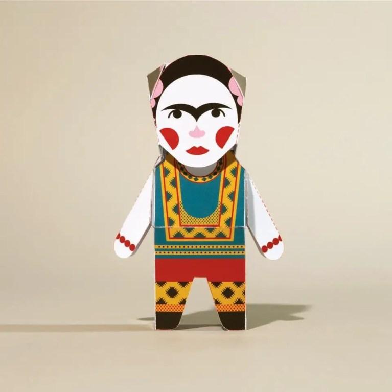 frida kahlo paper character