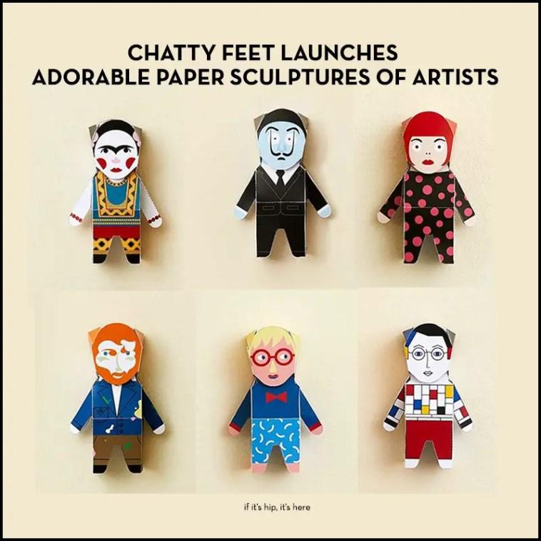 chatty feet paper artist sculptures