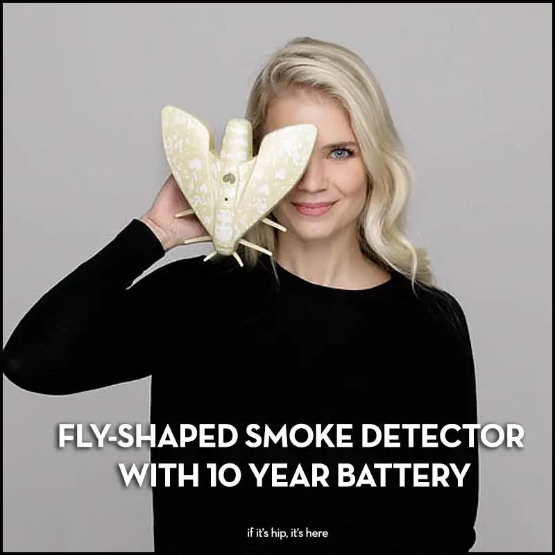 lento fly-shaped smoke detector 10yr battery