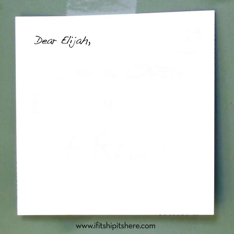 Notes To Elijah