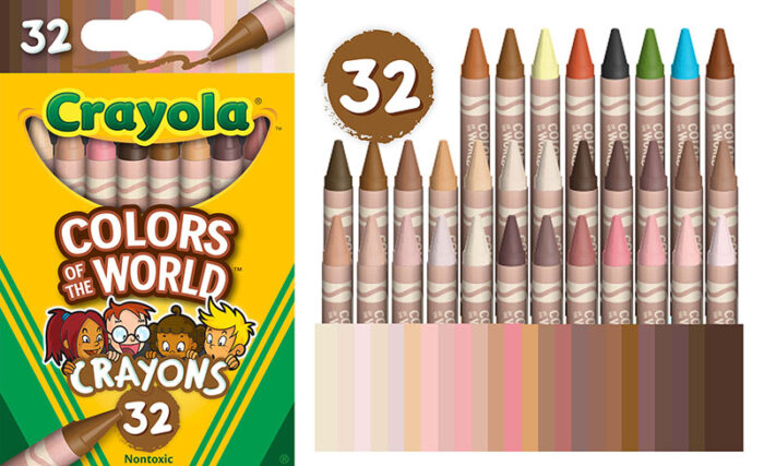 new crayola flesh colors for all