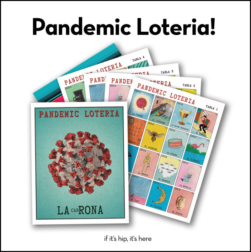 Pandemic Loteria game