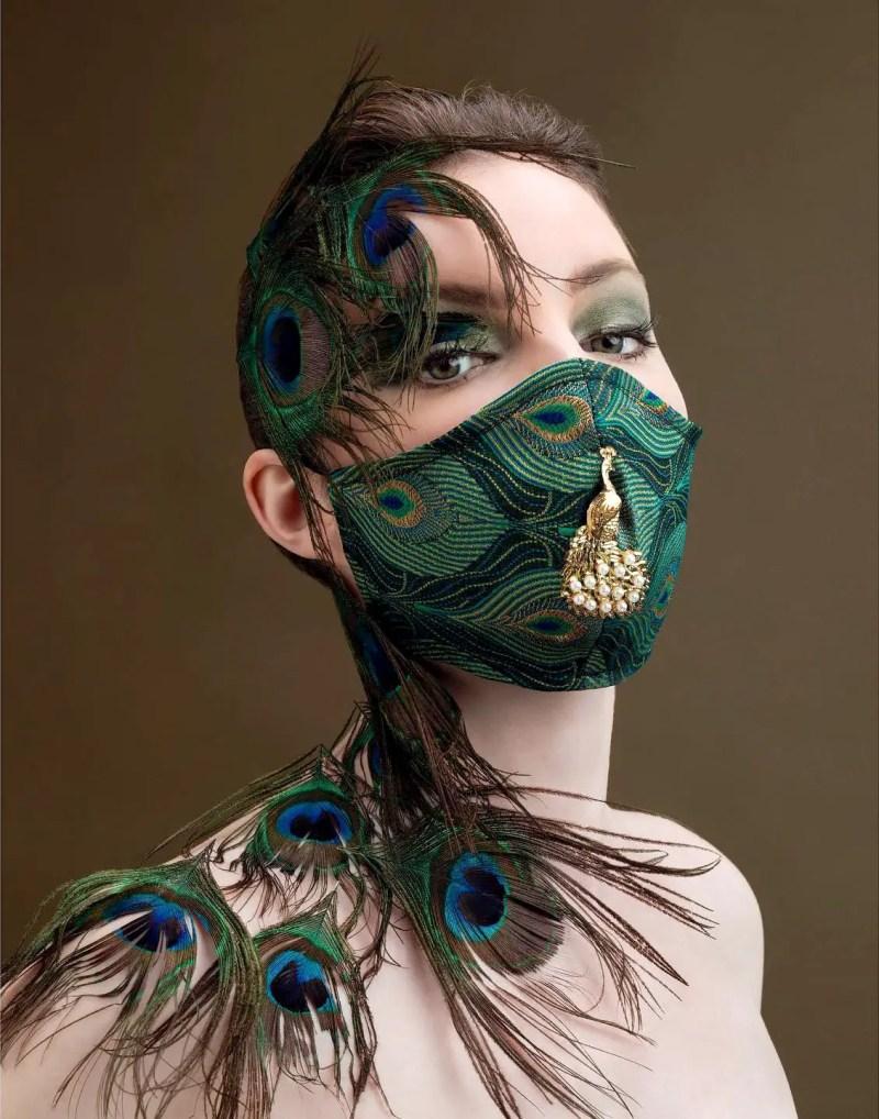 Pearl Peacock mask