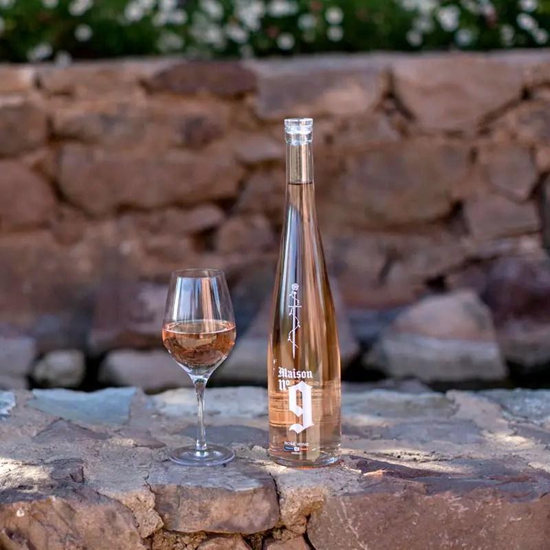 maison 9 bottle and glass IIHIH