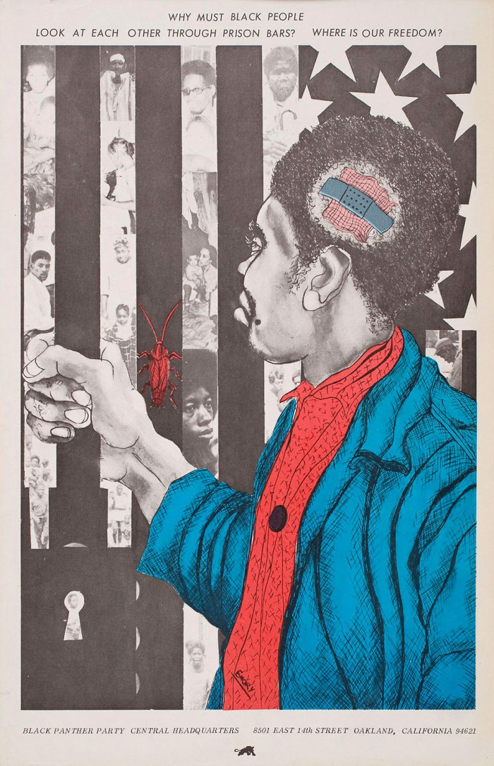 Why Must Black People Look At Each Other Through Prison Bars poster
