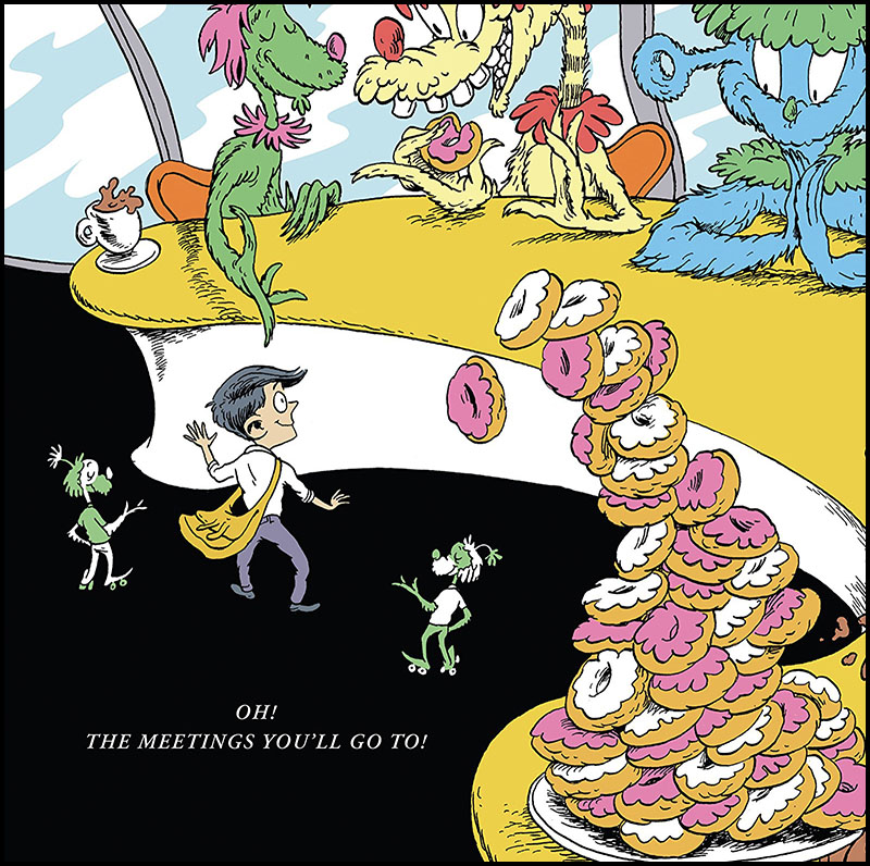 dr seuss parody book oh the meetings you'll go to!