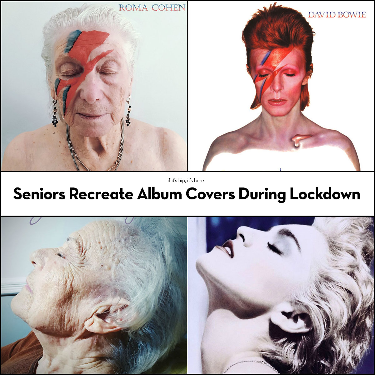 Seniors recreate album covers during lockdown