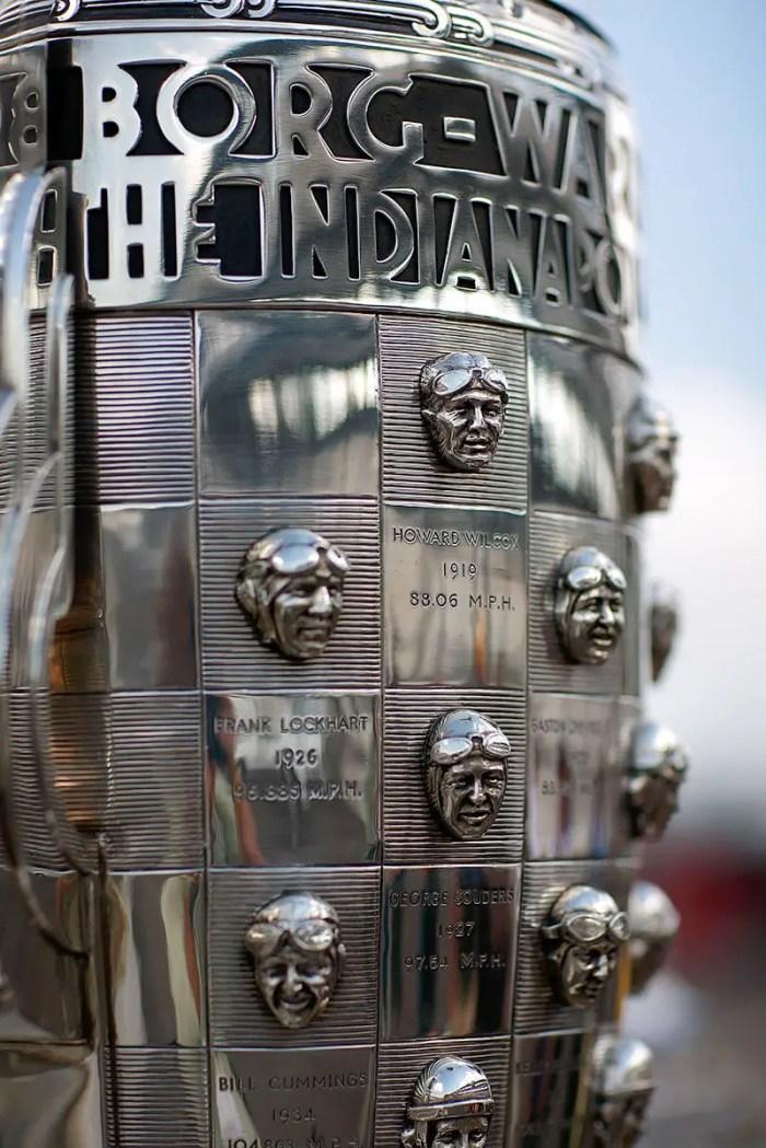 Detail of the Borg-Warner Trophy