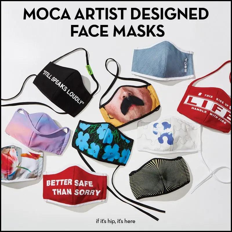 moca artist designed face masks