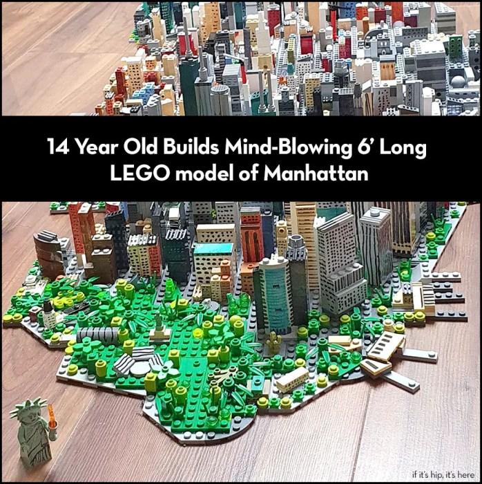 Freestyle LEGO build of Manhattan