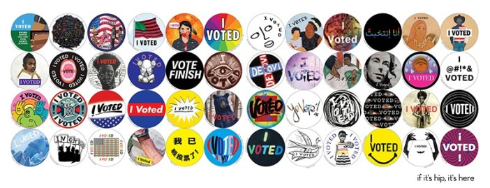 """48 Artists Create """"I Voted"""" Stickers"""