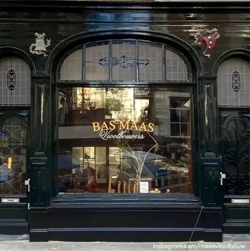 bas maas violin makers storefront