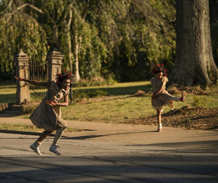 Bianca Brewton and Kaelynn-gobert-harris as Bopsy and Topsy on Lovecraft Country Photograph by Eli Joshua Ade HBO