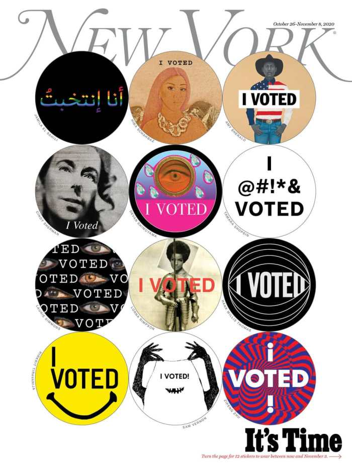 new york mag I voted stickers