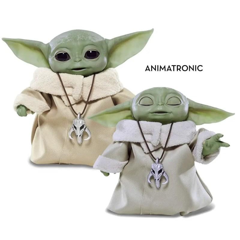 animatronic baby yoda doll