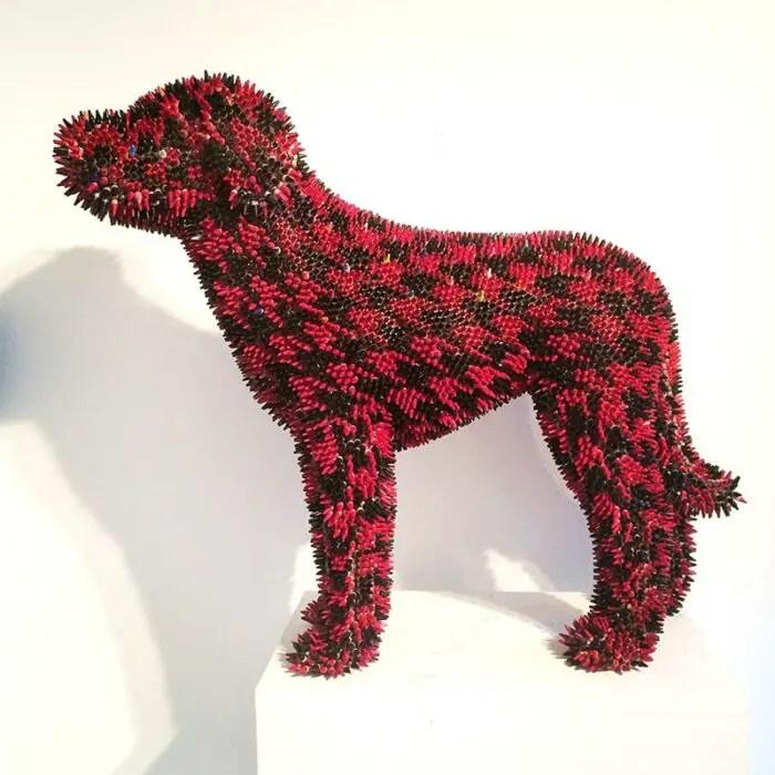 Herb Williams houndstooth crayon hound