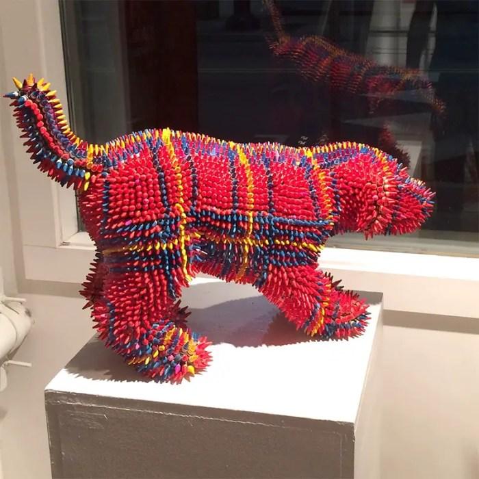 herb williams plaid crayon dog