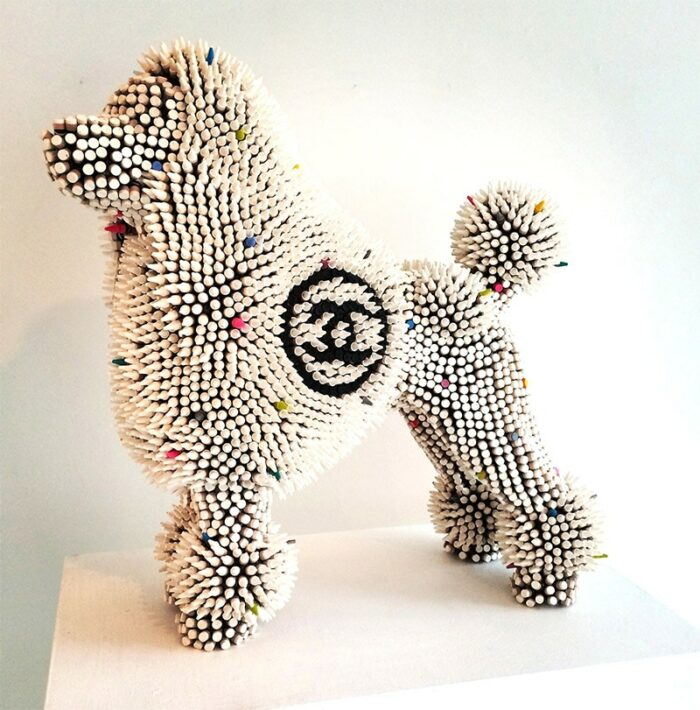 herb williams white crayon chanel poodle