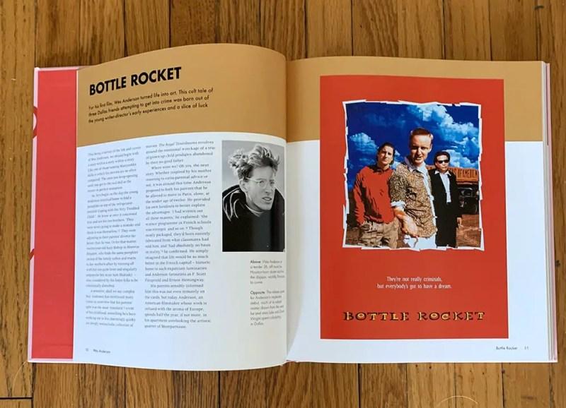 wes anderson book bottle rocket spread