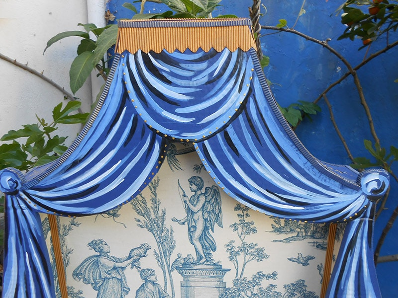 Polonaise bed for cat detail