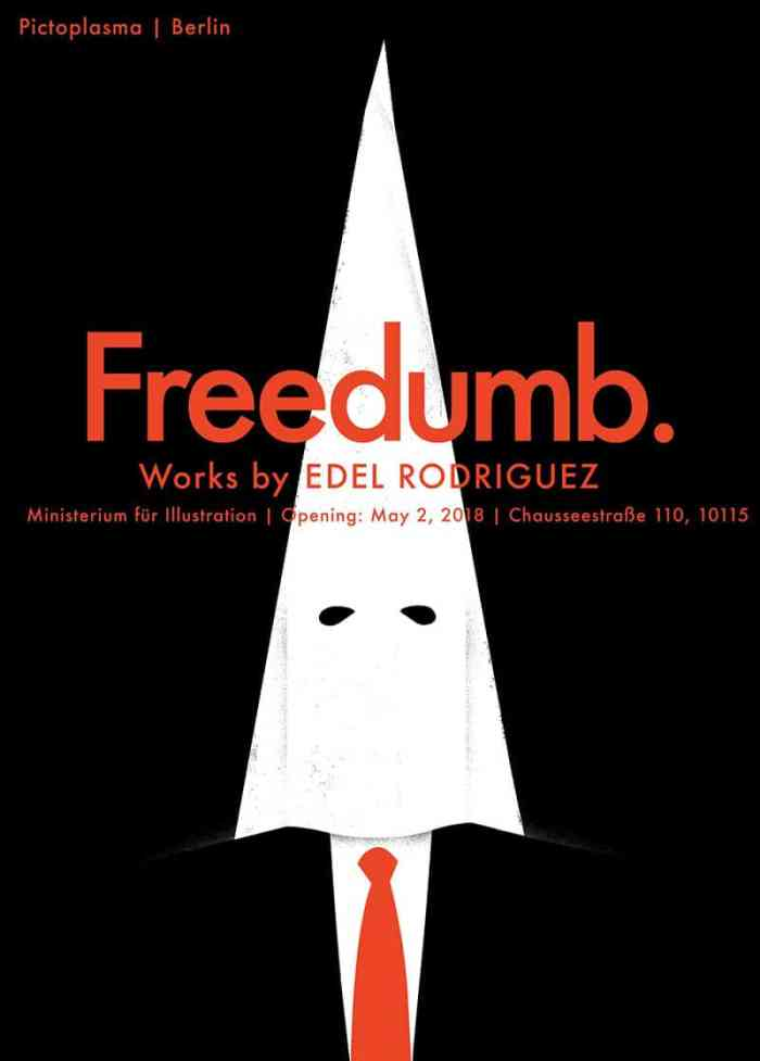 Edel Rodriguez Berlin Exhibition poster