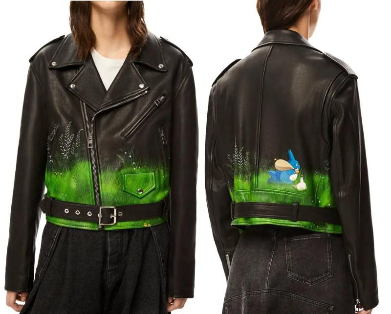 loewe x totoro leather jacket