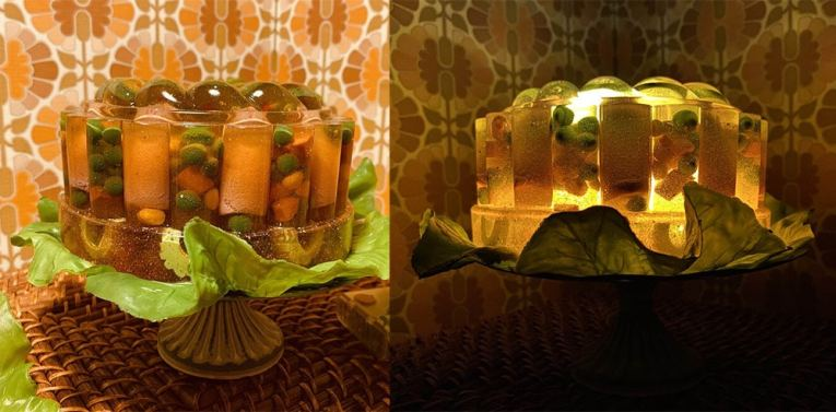 jello desserts as lamps