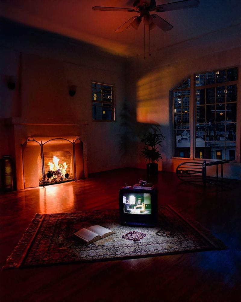 Alex Hyner photo tv and fireplace