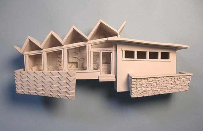 miniature mid-century modern homes