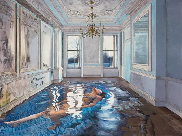 swimmer paintings