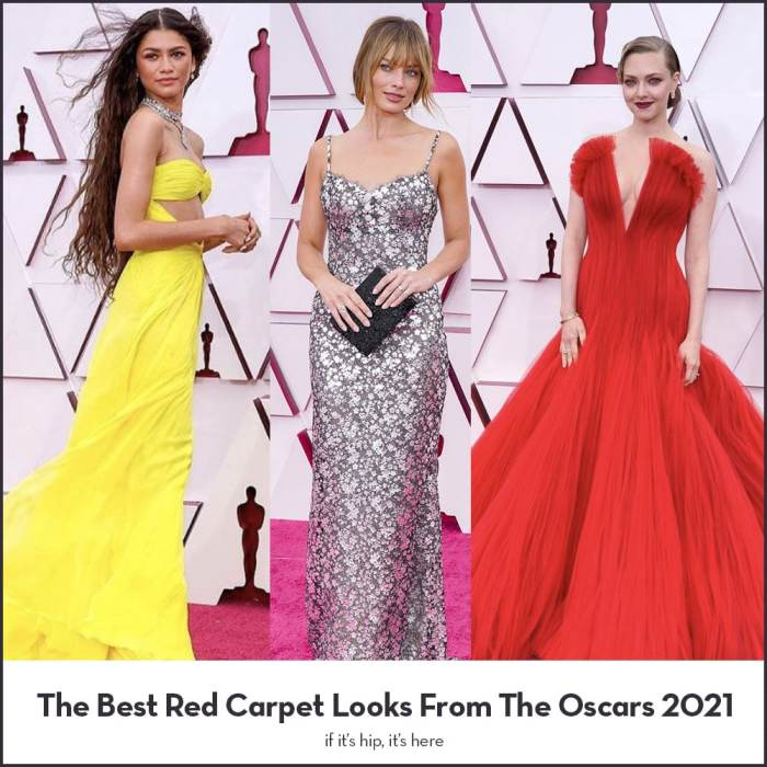 The best red carpet looks oscars 2021