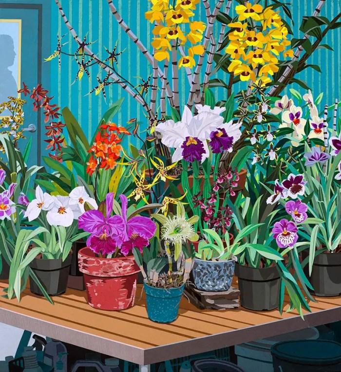 paper art potted plants