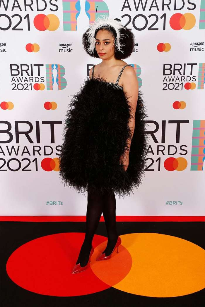 celeste 2021 brit awards red carpet