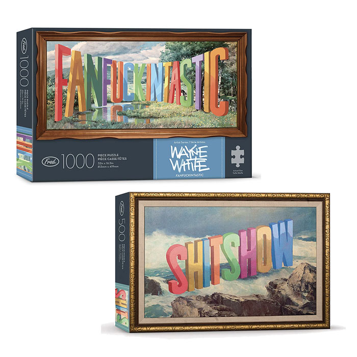 wayne white art puzzles